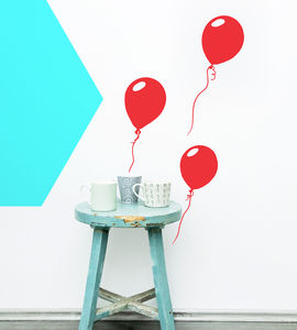 Balloons Vinyl Wall Sticker - decorative accessories