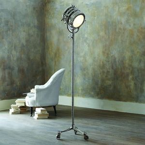 Rolling Spotlight Floor Lamp - table & floor lamps