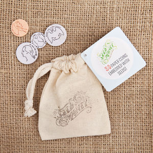 'Seed Money' Paper Coins With Seeds