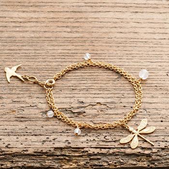 Gold Dragonfly Bracelet