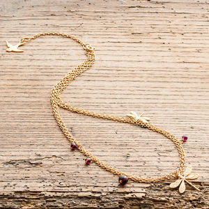 Gold Dragonfly Necklace - necklaces & pendants