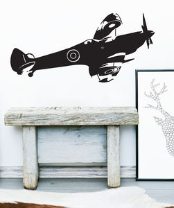 Spitfire Side Vinyl Wall Sticker - wall stickers