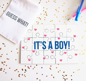 Personalised Baby Gender Reveal Puzzle