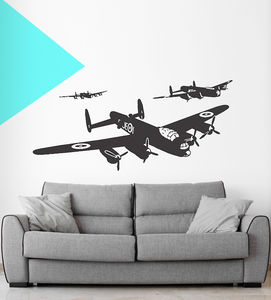 Set Of Three Lancaster Vinyl Wall Stickers - bedroom