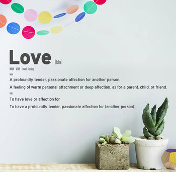 Personalised Dictionary Quote Wall Sticker