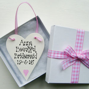 Bridesmaid Personalised Love Token - wedding thank you gifts