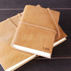 Personalised Monogram Leather Journal