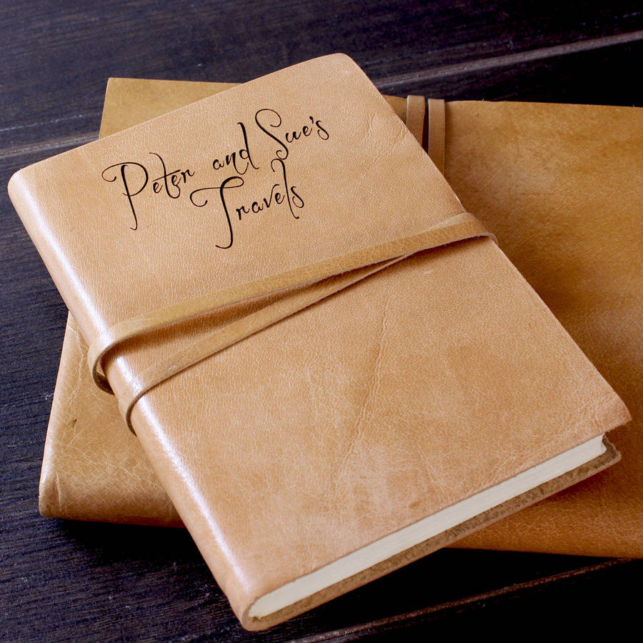 Personalised Leather Journal Or Notebook By The Rustic