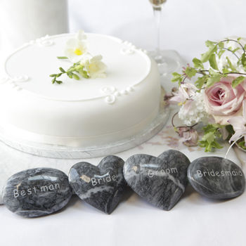 Personalised Marble Heart Stone Or Pebble