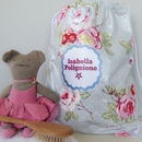 Vintage Roses Oilcloth Kit Bag