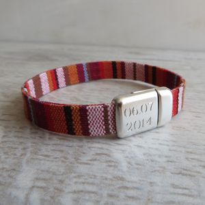 Personalised Woven Cloth Bracelet - bracelets