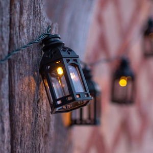 Black Moroccan Lantern Solar Lights - fairy lights & string lights