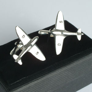 Spitfire Cufflinks Personalised - cufflinks