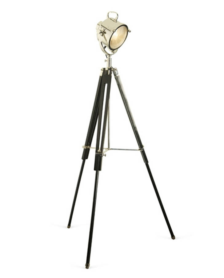 we 39 re sorry spotlight floor lamp black wooden tripod is no longer. Black Bedroom Furniture Sets. Home Design Ideas