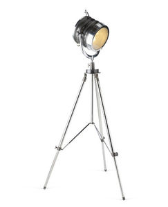 Two Tone Spotlight Floor Lamp Round Tripod - office & study