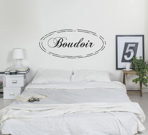 Shabby Chic Boudoir Vinyl Wall Sticker