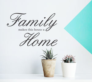 'Family Home' Wall Sticker - office & study