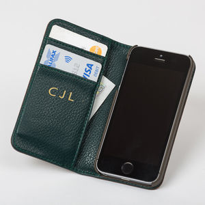 Leather iPhone Six/6s Case With Gold Initials - gifts for him