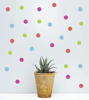 Summer Polka Dot Wall Sticker Set