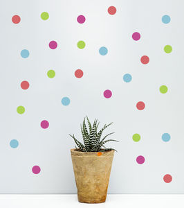Summer Polka Dot Wall Sticker Set - office & study