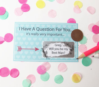 Personalised Will You Be My Best Man? Scratchcard