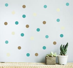 Seaside Polka Dot Wall Sticker Set
