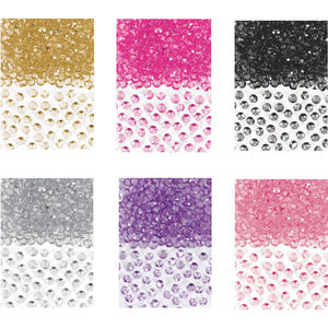 Colourful Gem Table Confetti - petals & confetti