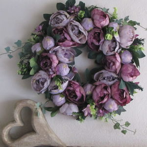 Personalised Handmade Silk Flower Wreath