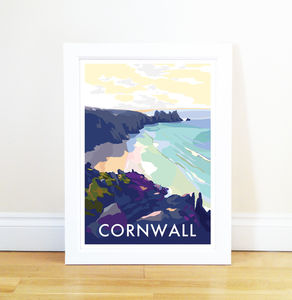Cornwall Beach Vintage Style Seaside Posters
