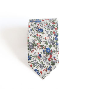 Oliver Ditsy Floral Cotton Men's Tie - gifts for him
