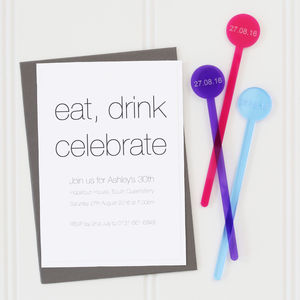 Cocktail Stirrer Party Invitations