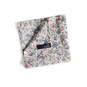 Oliver Ditsy Floral Cotton Pocket Square - handkerchiefs