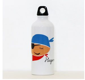 Personalised Water Bottle With Pirate