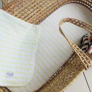 Pineapple Print Fitted Bassinet Or Pram Sheet - soft furnishings & accessories