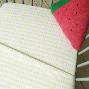 Pineapple Print Fitted Cot Bed Sheet