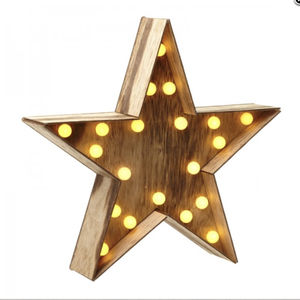 Wooden Star Light - children's lighting