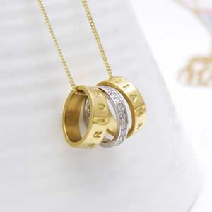 Personalised Gold Hoop And Diamond Spacers - gold & diamonds