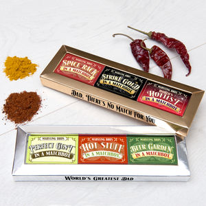 Dad's Matchbox Gift Set - food & drink sale