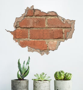 Brick And Plaster Wall Sticker