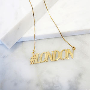 Hashtag London Necklace