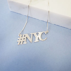 Hashtag Nyc Necklace