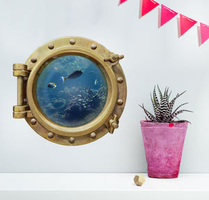 Underwater Porthole Wall Sticker - wall stickers
