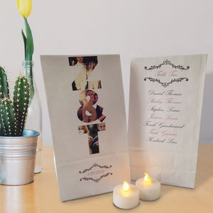 Personalised Table Setting Paper Lanterns