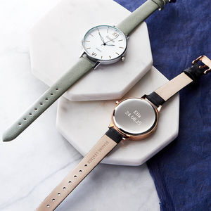 Ladies Watch With Leather Strap - gifts for mothers