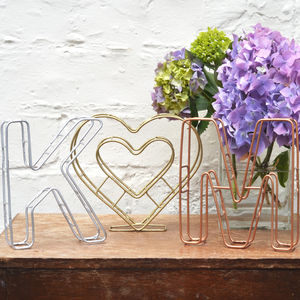 Wire Letters And Heart/Ampersand Set