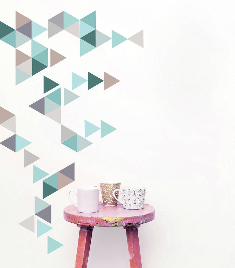 geometric triangles vinyl wall sticker setoakdene designs