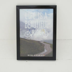 Cycling Photo Poster 'Life Is A Beautiful Ride' - posters & prints