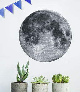 Full Moon Wall Sticker - decorative accessories