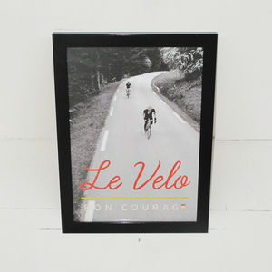 Cycling Poster Le Velo Photographic Print