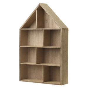 Wooden House Shelf - office & study